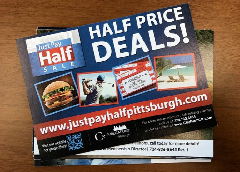 Print - We have ads like this in local magazines, newspapers, and card deck mailings.