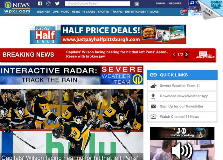 Digital - We run banner ads on popular Pittsburgh sites such as WPXI.